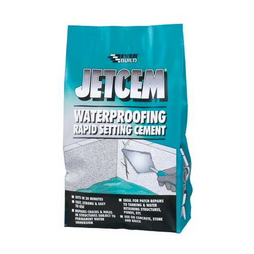 Everbuild Jetcem Waterproofing Rapid Set Cement